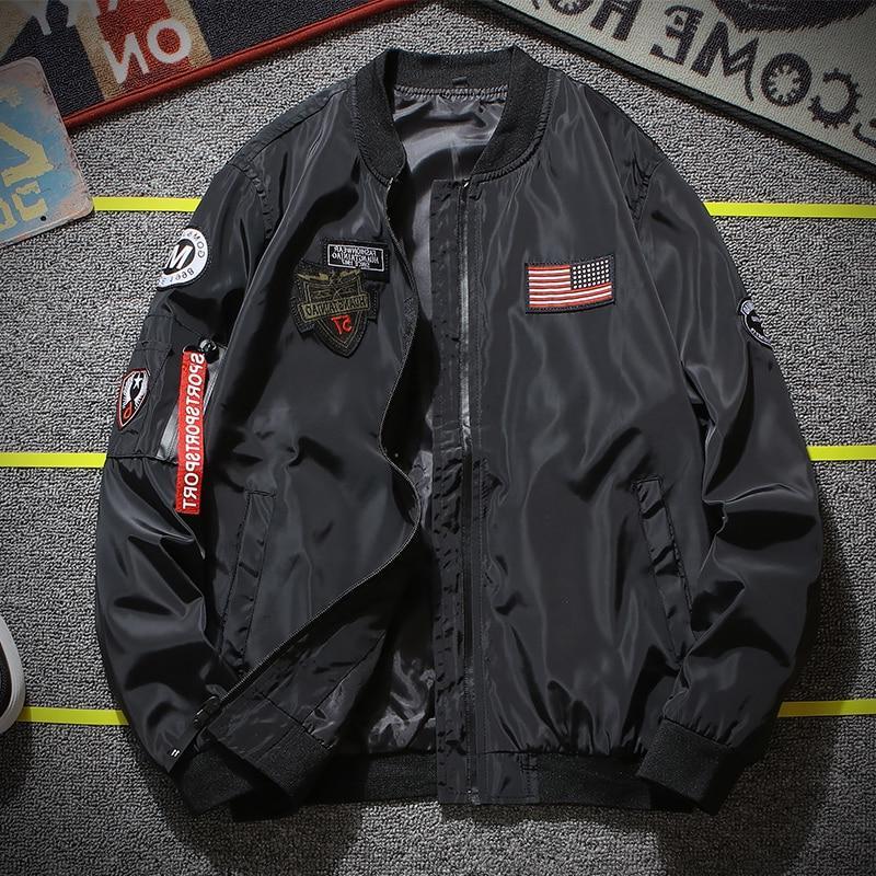 Army <font><b>Men</b></font> Fashion Designer Pilot <font><b>Jacket</b></font> Zipper Baseball Uniform <font><b>Men's</b></font> <font><b>Jacket</b></font>
