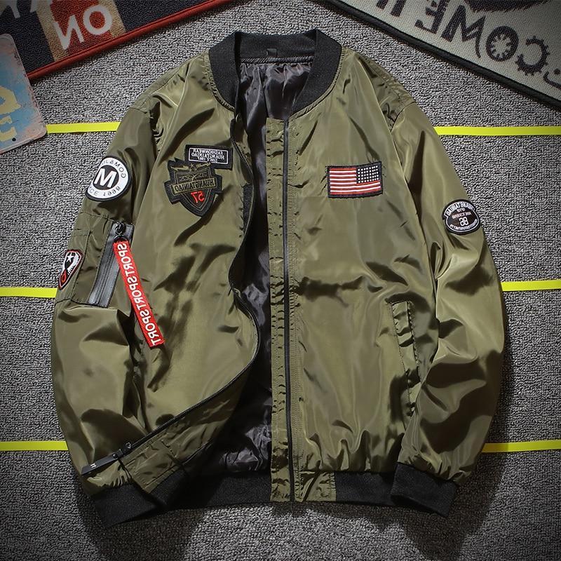 Army Pilot <font><b>Jacket</b></font> <font><b>Men</b></font> Fashion Designer Zipper Baseball Uniform <font><b>Men's</b></font> <font><b>Jacket</b></font>