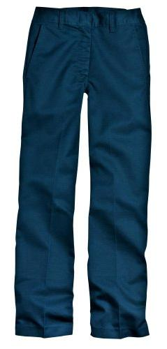Dickies Big Boys' Classic Flat Front Pant, Dark Navy, 14 Reg