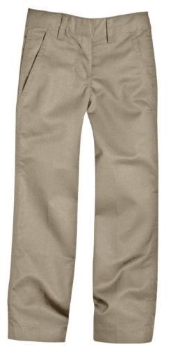 Dickies Big Boys' Flex Waist Flat Front Pant, Khaki, 8
