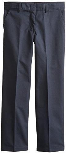 Dickies Big Boys' Flex Waist Flat Front Pant, Dark Navy, 18