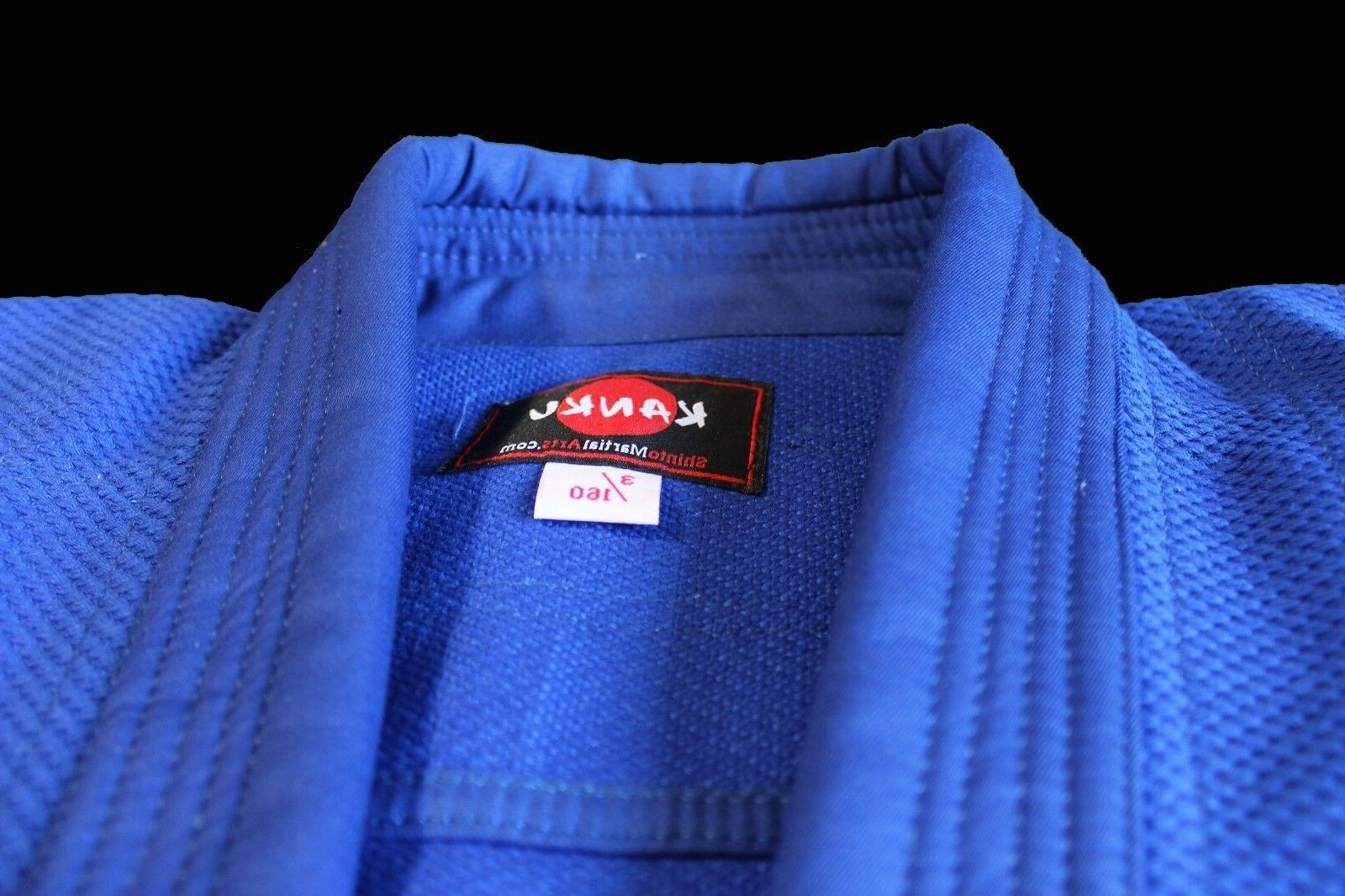 KANKU Bjj gi, Judo Uniform, Single Weave Blue color Jiu Jiut