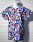 Barco Blocked Print Nurses Uniform Scrub Top Sz S NWOT