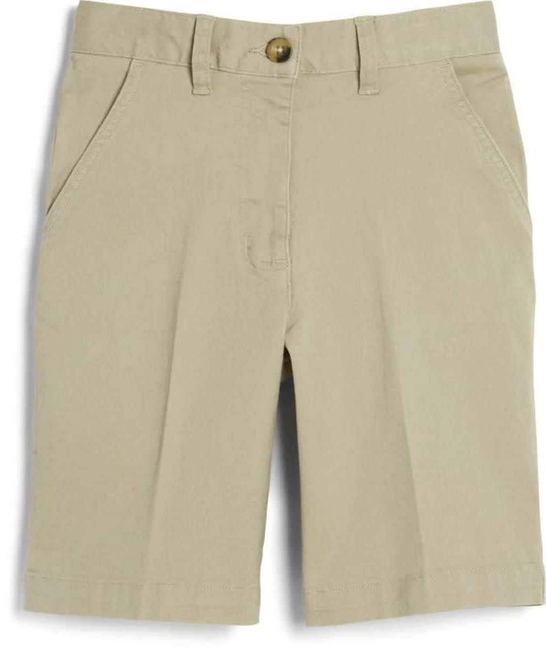 boy s school uniform flat front shorts