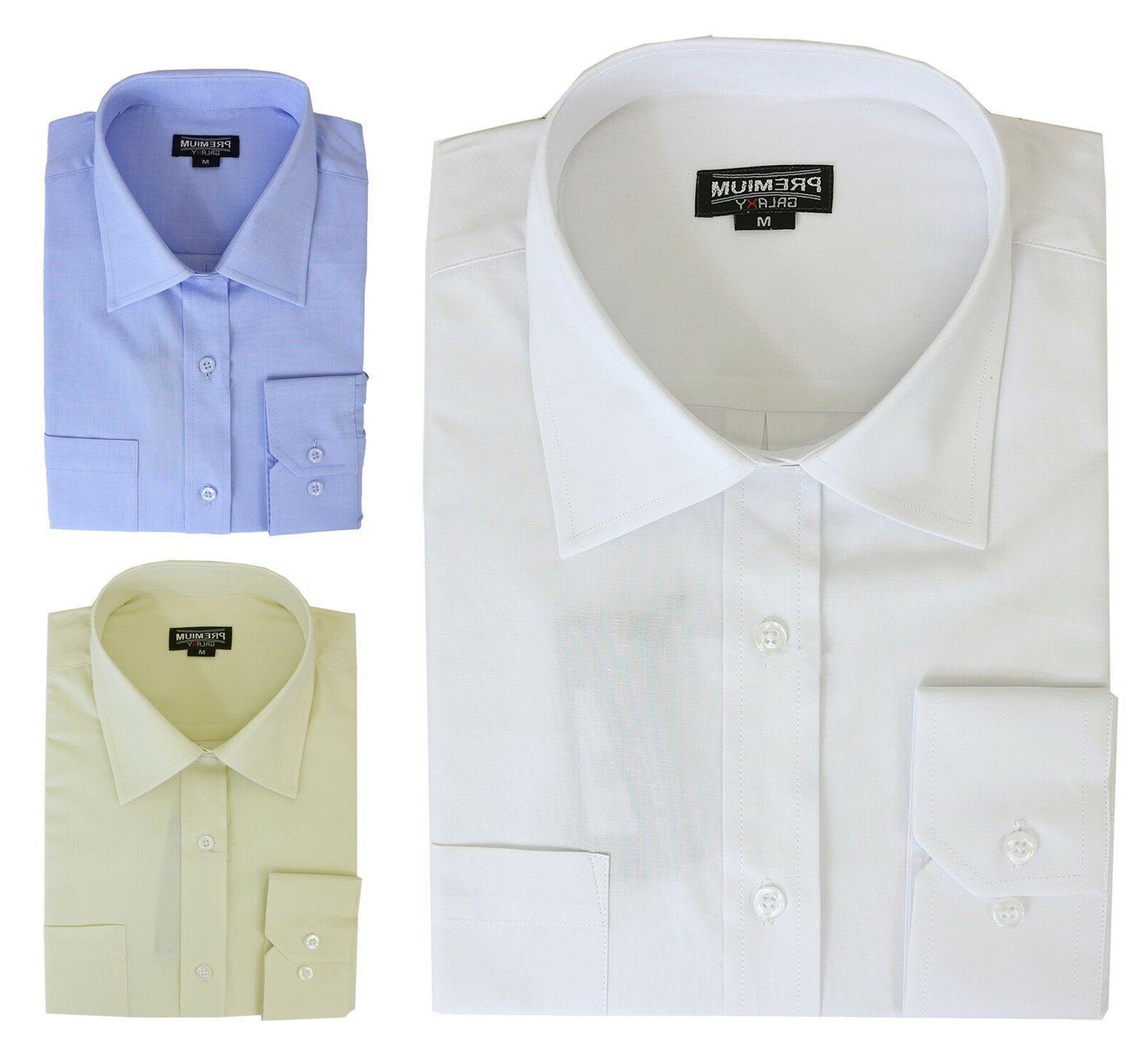 Boys Long Sleeve Uniform Shirts Casual School Button Colors