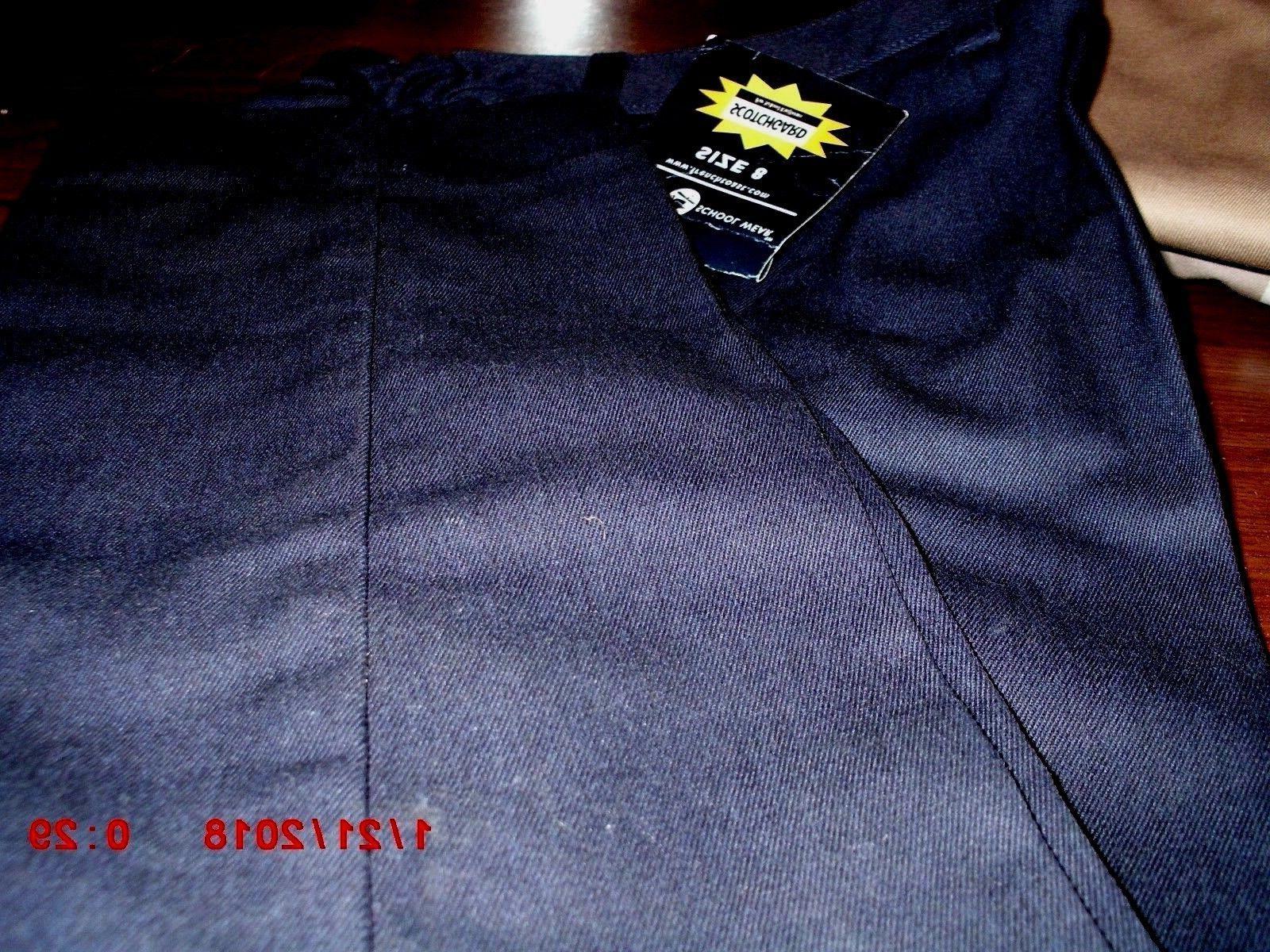 boys navy khaki school uniform pants sz