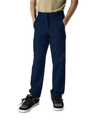Dickies Boys Navy Pants Flat Front Classic Fit School Unifor