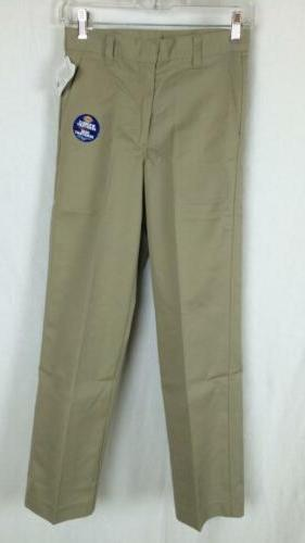 Dickies Boys Pants Flat Front Classic Fit Size 8 - 20 School