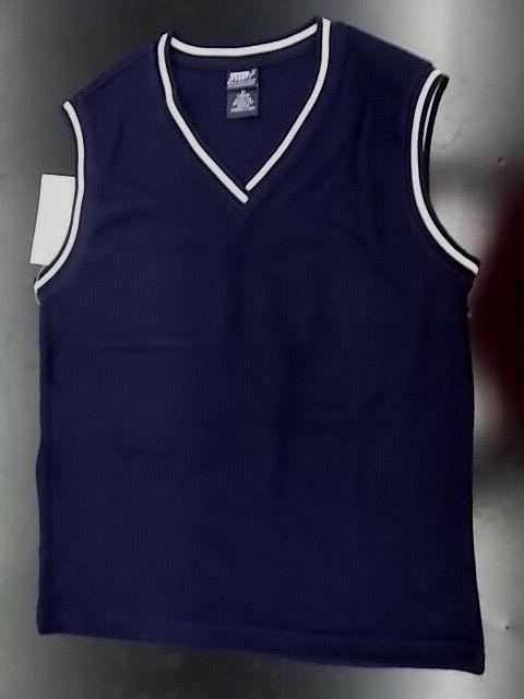 Boys French Toast Uniform Navy Sweater Vest Husky Size 10H -