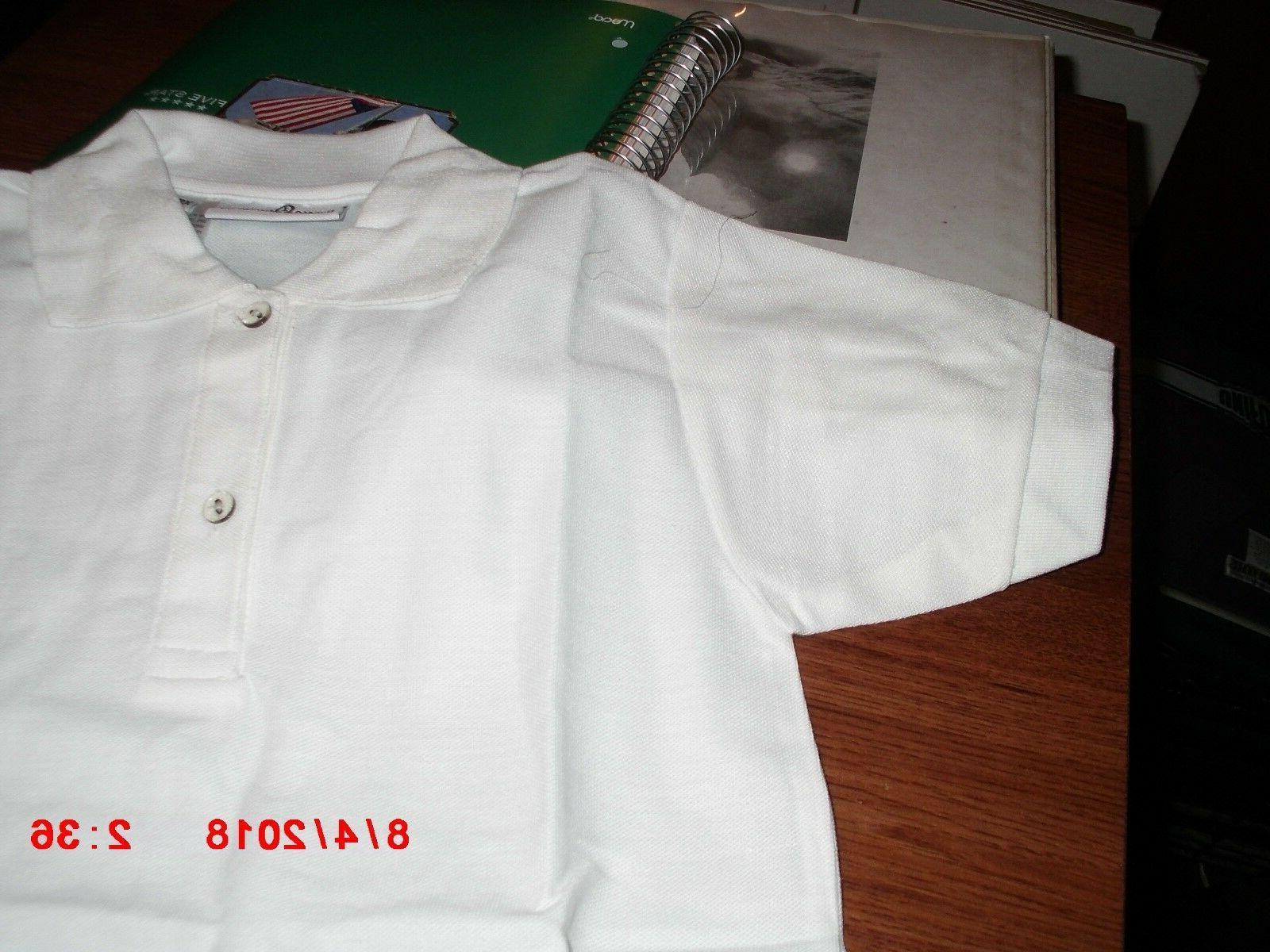 boys white polo shirts short sleeve school