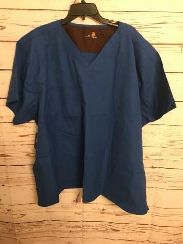 brand mens scrubs nurse medical solid royal