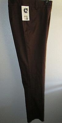 Landau Casual Uniform Pants Slacks Size 8 Brown Molly 5516 C