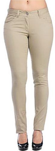 Dickies Girl Junior's Classic 5 Pocket Skinny Pant, Khaki, 1