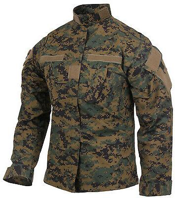 COAT JACKET ACU WOODLAND DIGITAL CAMO COMBAT UNIFORM ROTHCO