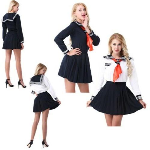 Cosplay Japanese School Girl Students Sailor Uniform Anime F
