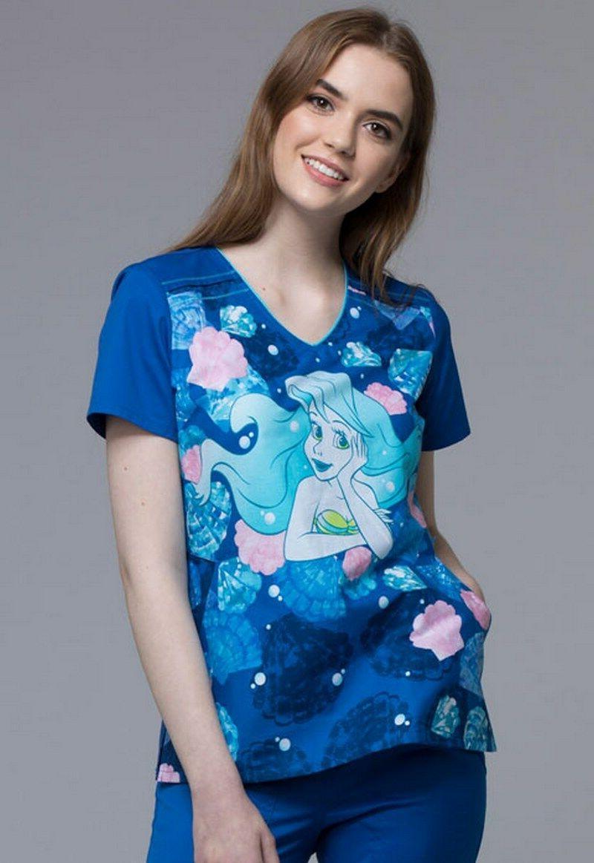 disney by tooniforms princess scrubs print tf608