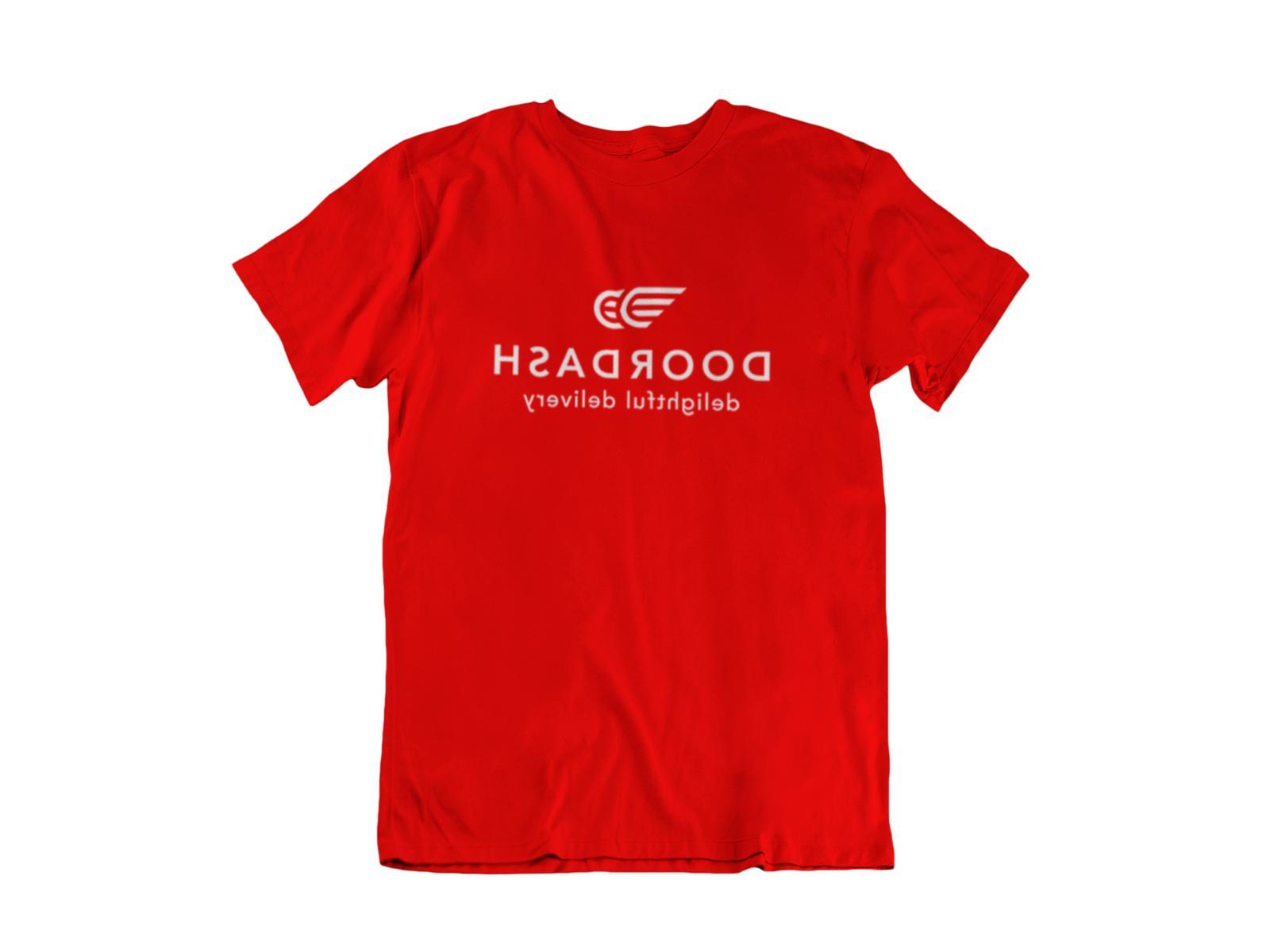 DOOR DASH RED T-Shirt SHIP