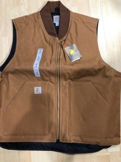 Carhartt Duck Canvas Brown size NEW quilted