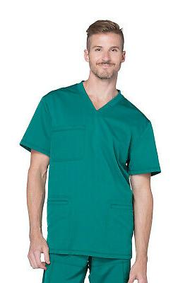 Dickies Dynamix DK640 Men's V-Neck Top Medical Uniforms Scru