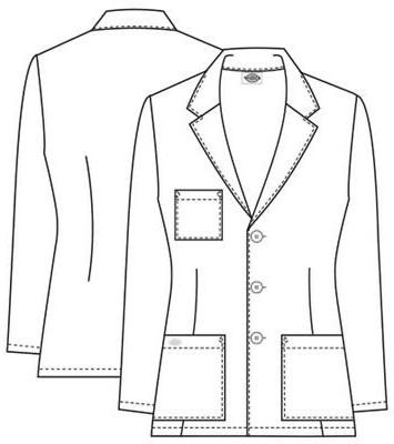 "Dickies 28"" Lab Uniforms Scrubs"