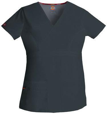 Dickies EDS 85820 Women's Jr. Fit Mock Wrap Top Medical Unif