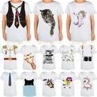 Fashion Kids Boys Girls Cotton Summer Crew T-Shirts Cartoon