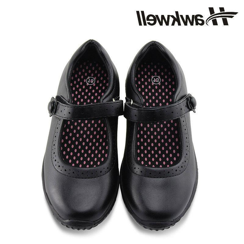 Hawkwell Girl's Black School Uniform shoes Dress Oxford Todd