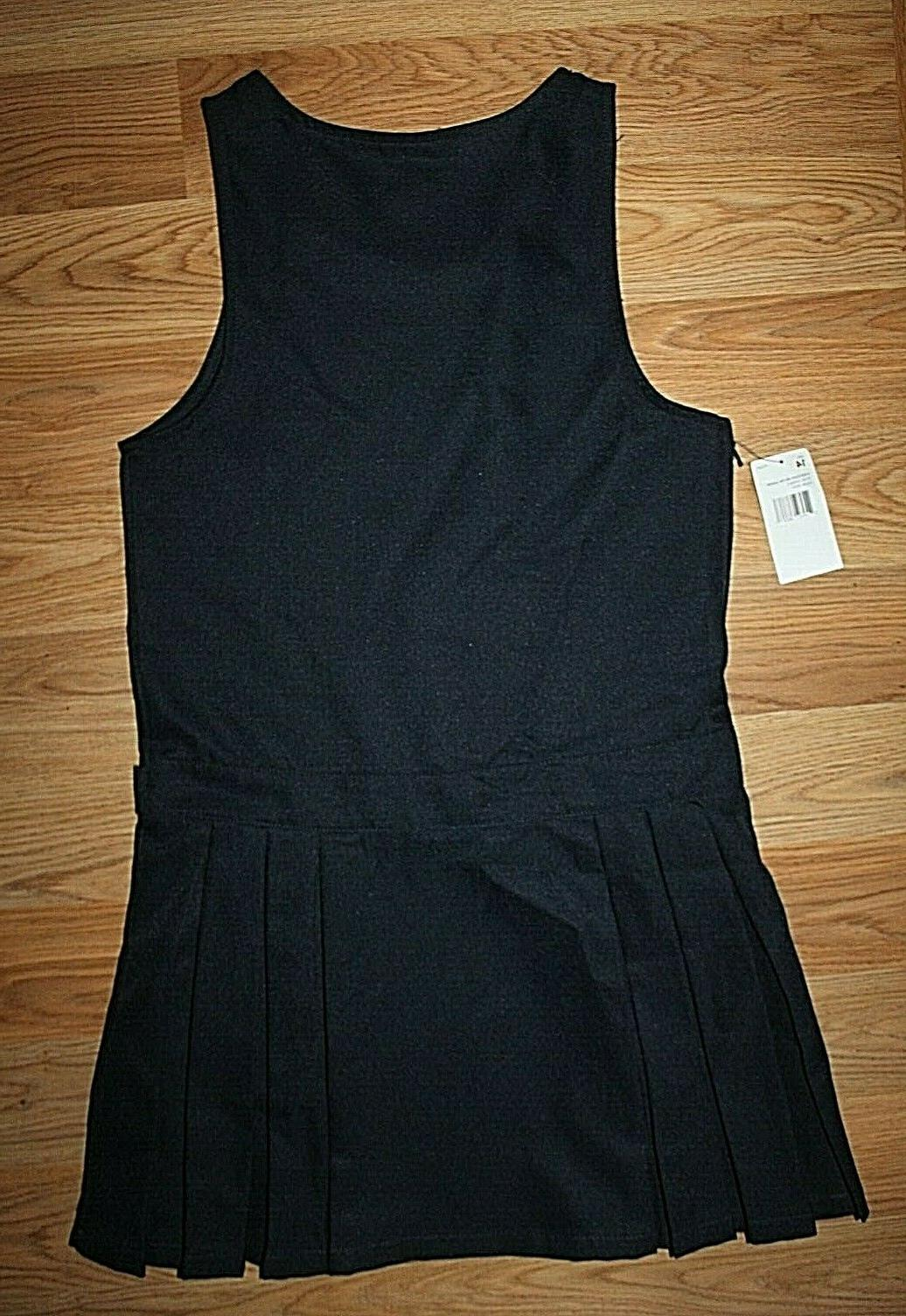 Girl's NAVY PLEATED BELTED JUMPER DRESS 14!