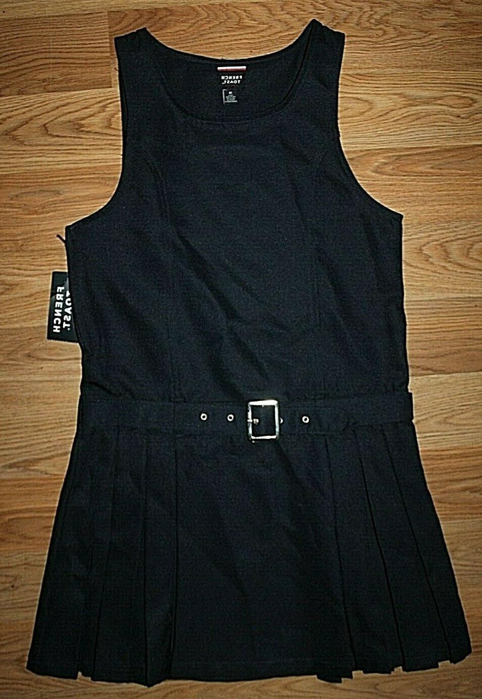 girl s navy pleated belted school uniform