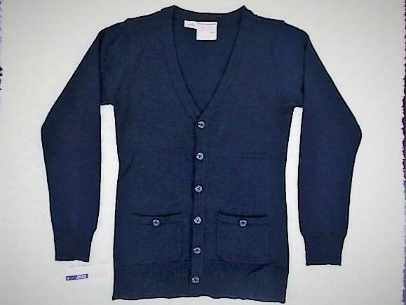 Girls Izod $34 Navy Uniform Cardigan Sweater Size 7/8 - 18
