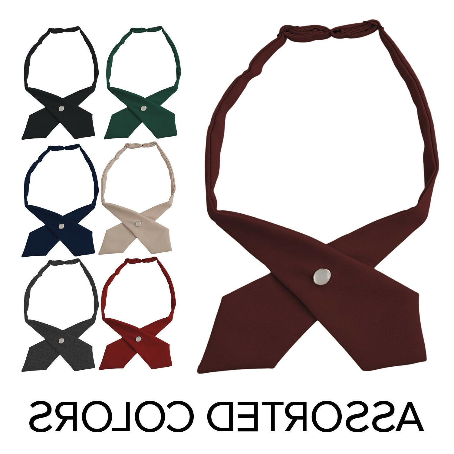 girls adjustable cross ties school uniform assorted