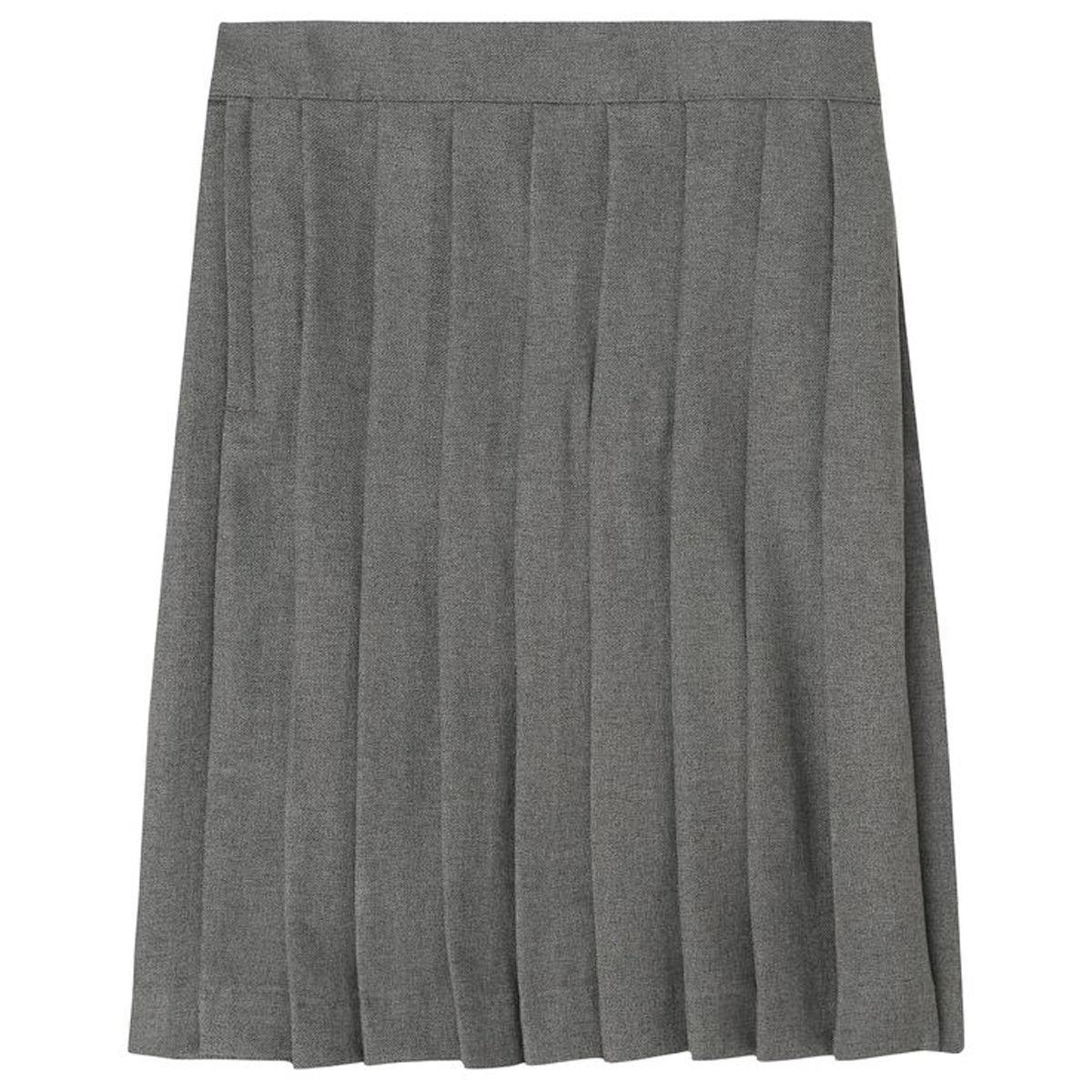 Girls Gray Pleated Skirt French Toast School Uniform Sizes 4