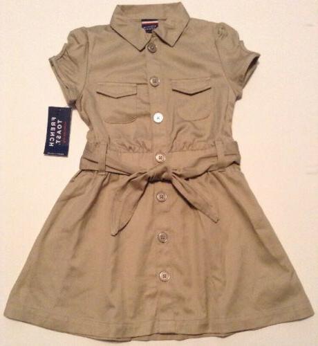 girls school uniform safari dress button up