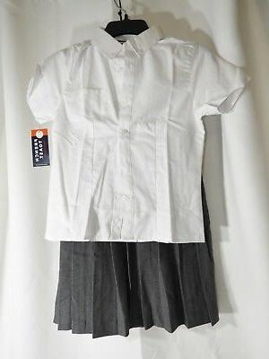 girls uniform button shirt skirt size 12