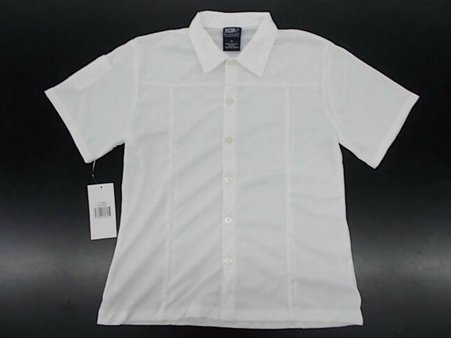 girls uniform casual white wicking button down