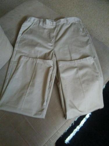 girls uniform pants size 20 beige cotton