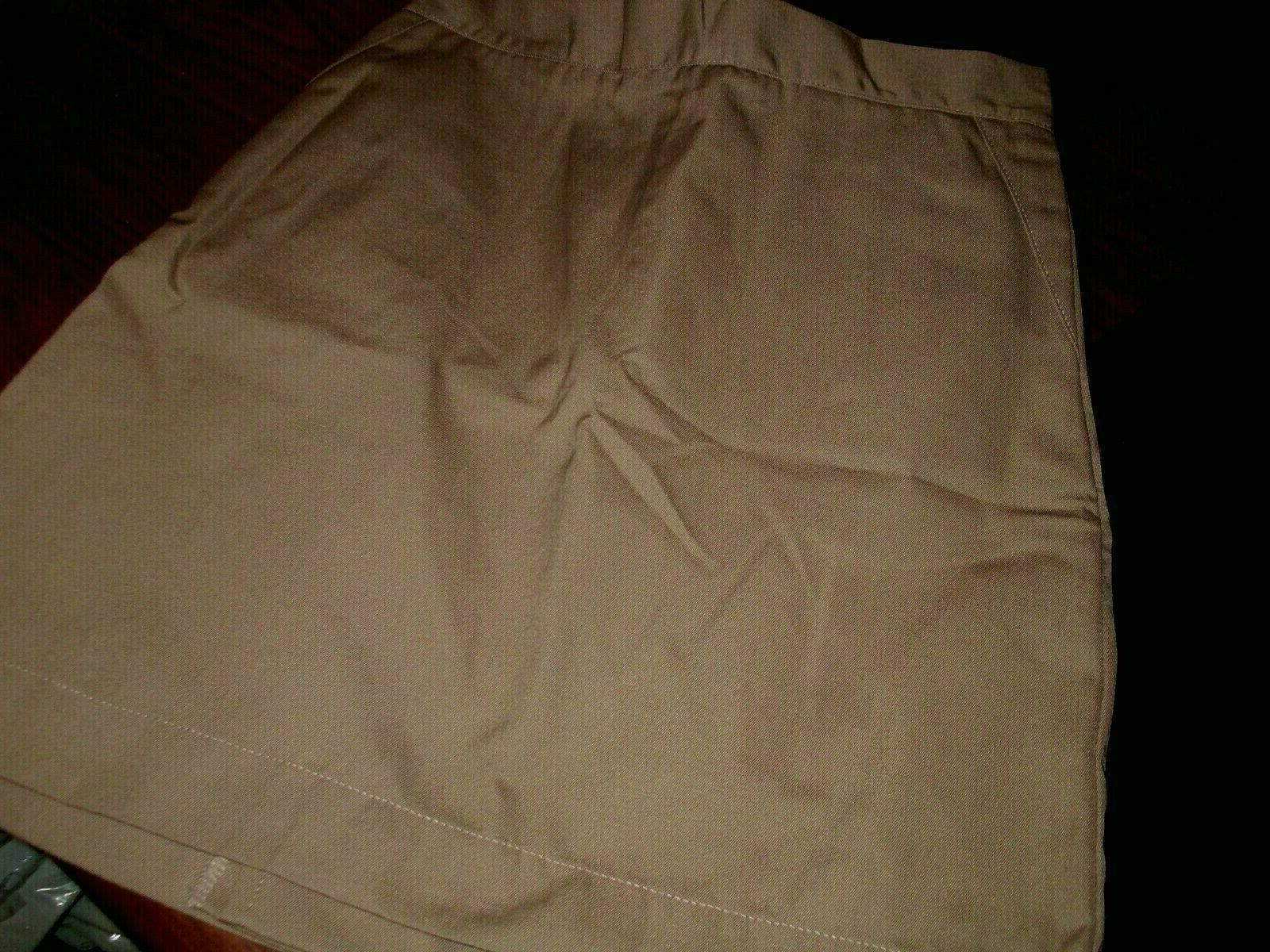 girls uniform skirts khaki cotton blend school