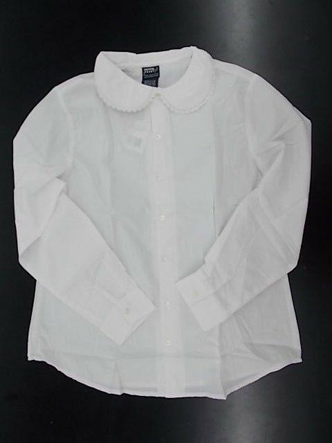 girls uniform white shirt w peter pan