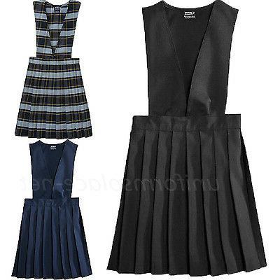 girls uniforms jumper v neck pleasted school