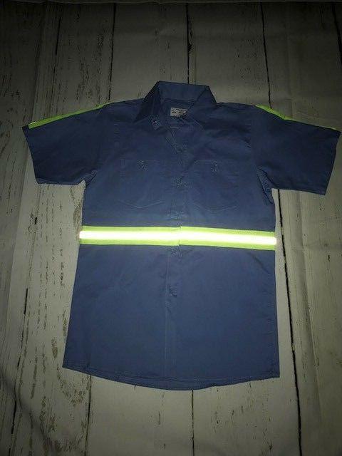 Hi Shirts Safety Work Uniform 100% Cotton Light Blue