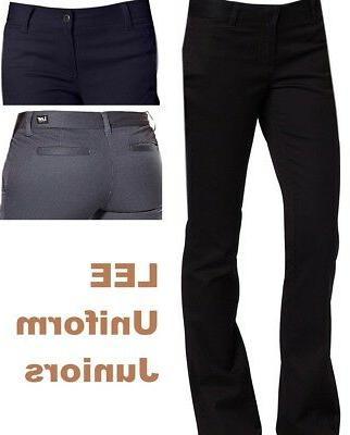 Lee Jeans Girls Uniforms Juniors Pants Original Skinny Leg P