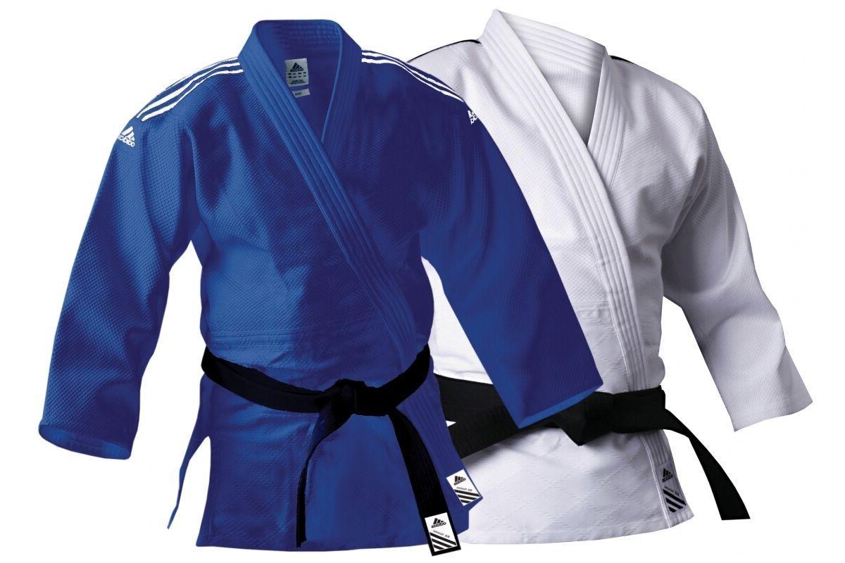 Adidas Judo Suit 500g Training Uniform Blue White Adult Men