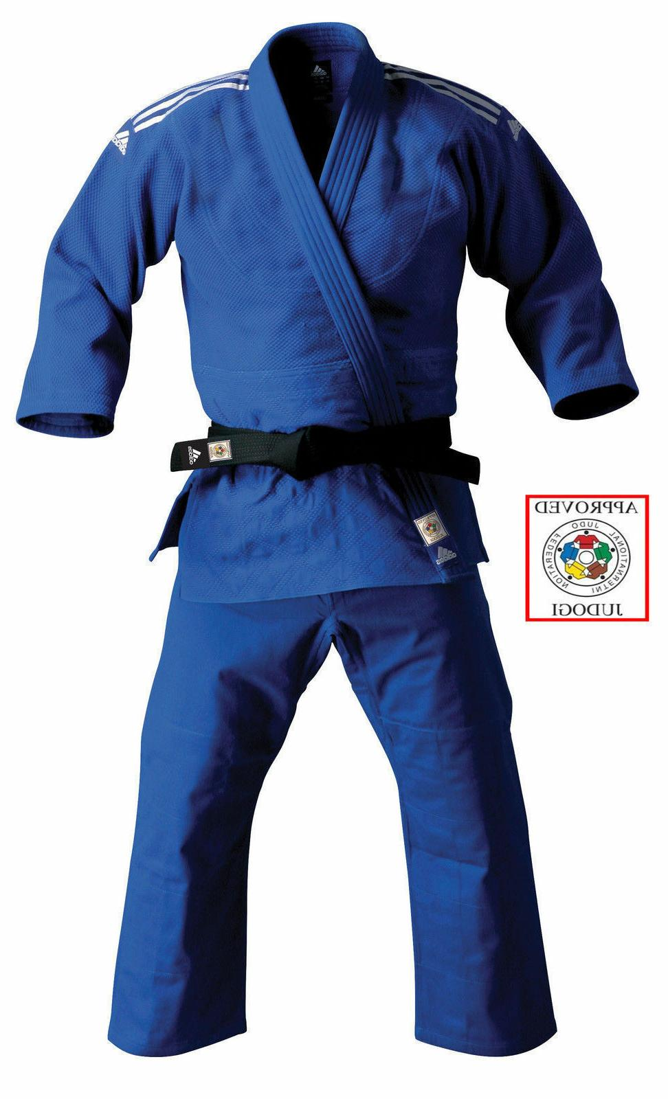 Adidas Judo Suit II 750g Blue Slim Fit Approved Adults Uniform