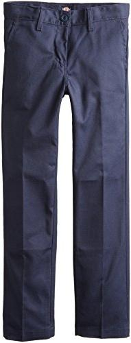 Dickies Khaki Big Boys' Flex Waist Slim Stretch Pant, Dark N