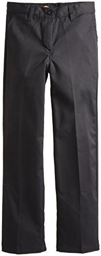 Dickies Khaki Big Boys' Flex Waist Stretch Pant, Black, 18 R
