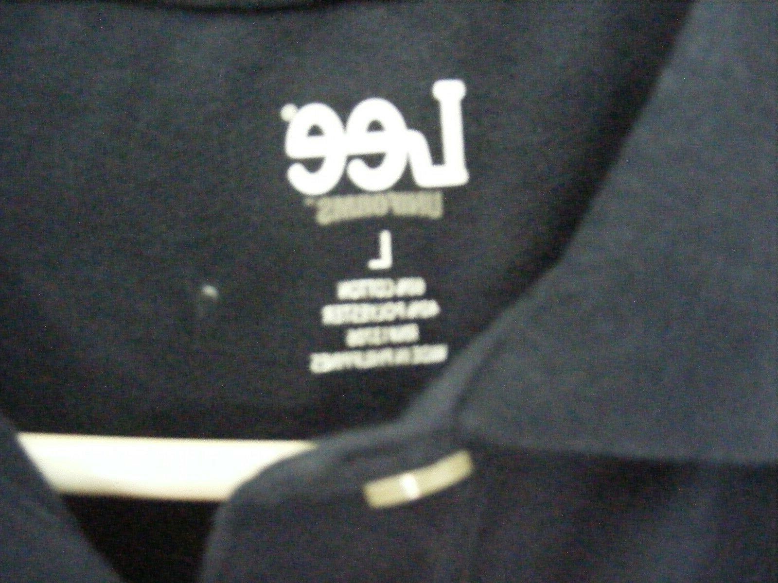 Lee Uniforms Men's Short Sleve Uniforms Polo, Navy, Large