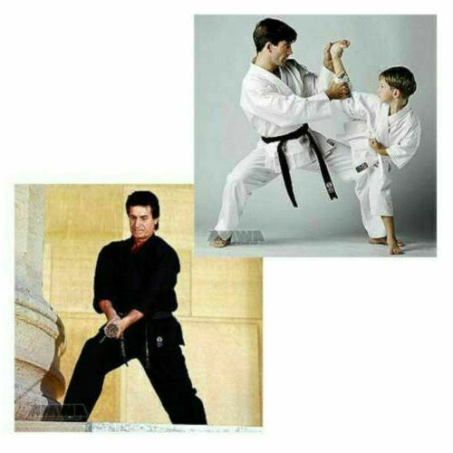 lightweight karate uniform gi white black w