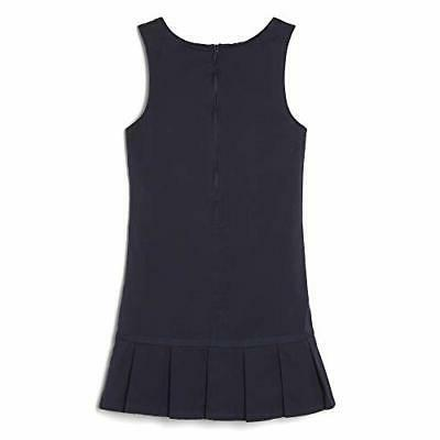 French Toast Little Pleated Jumper Navy 6X