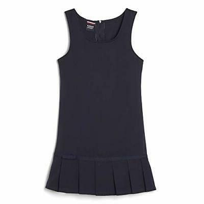 little girls pleated hem jumper navy 6x