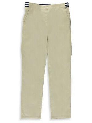 little girls pull on contrast waist pants